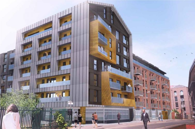 An artist's impression of The Guinness Partnership's McArthurs Yard scheme in Bristol.