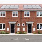 Solar panels on Midland Heart homes.