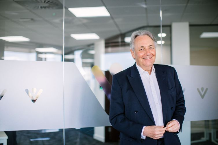 Charles Alexander, the new chair of 31,000-home social landlord VIVID, in VIVID's Hampshire office.