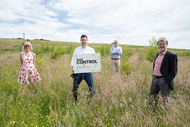 Image: Representatives from Thirteen and Forest Carbon at Jon's Wood in Crook, County Durham.
