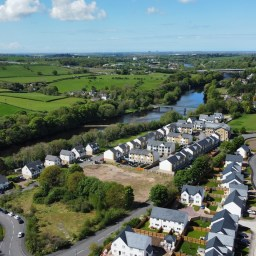 The site in Halton where the new Passivhaus homes will be developed.