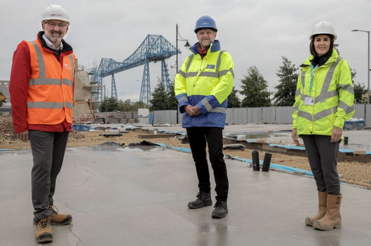 (from left)..Middlesbrough Development Company MD Tony Dodds and Bright Ideas Consulting & Development MD Martin Hawthorne.