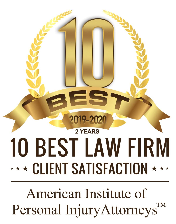10 best personal injury lawyers award