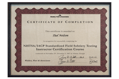 NHTSA/IACP Instructor's Course