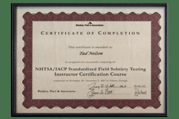 15 - NHTSA-IACP Instructor's Course