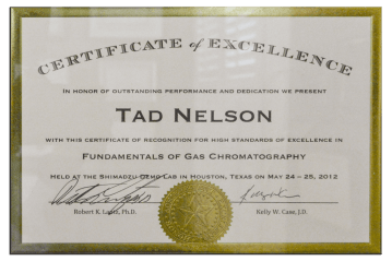 Tad Credentials 06 Gas Chromatography