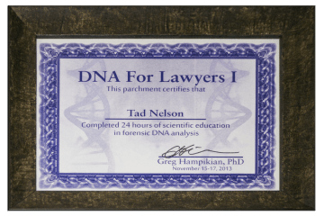 Tad Credentials 09 Forensic DNA for Lawyers