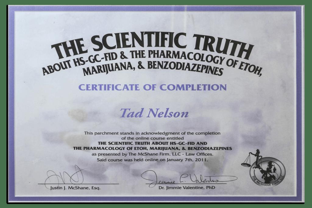 Tad Credentials 11 The Scientific Truth