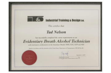 Tad Credentials - 18 - Evidentiary Breath Alcohol Technician