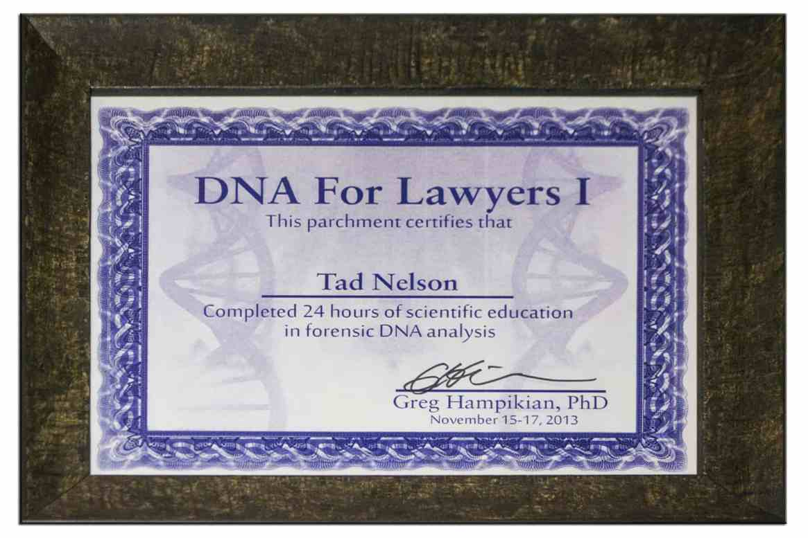 Forensic DNA for Lawyers