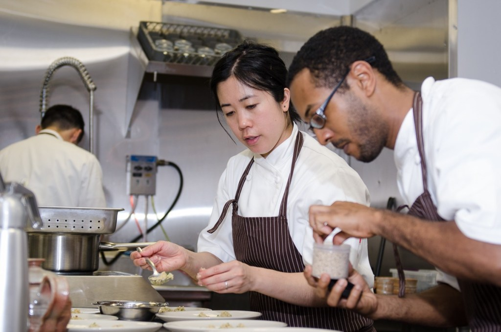 Oxheart baker Karen Man with opening sous chef Mark Clayton in 2012.