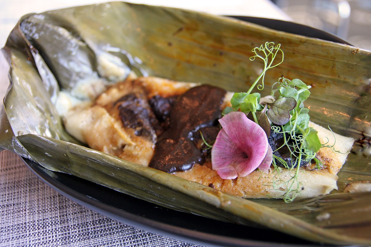Tamale with Black Mole at Xochi