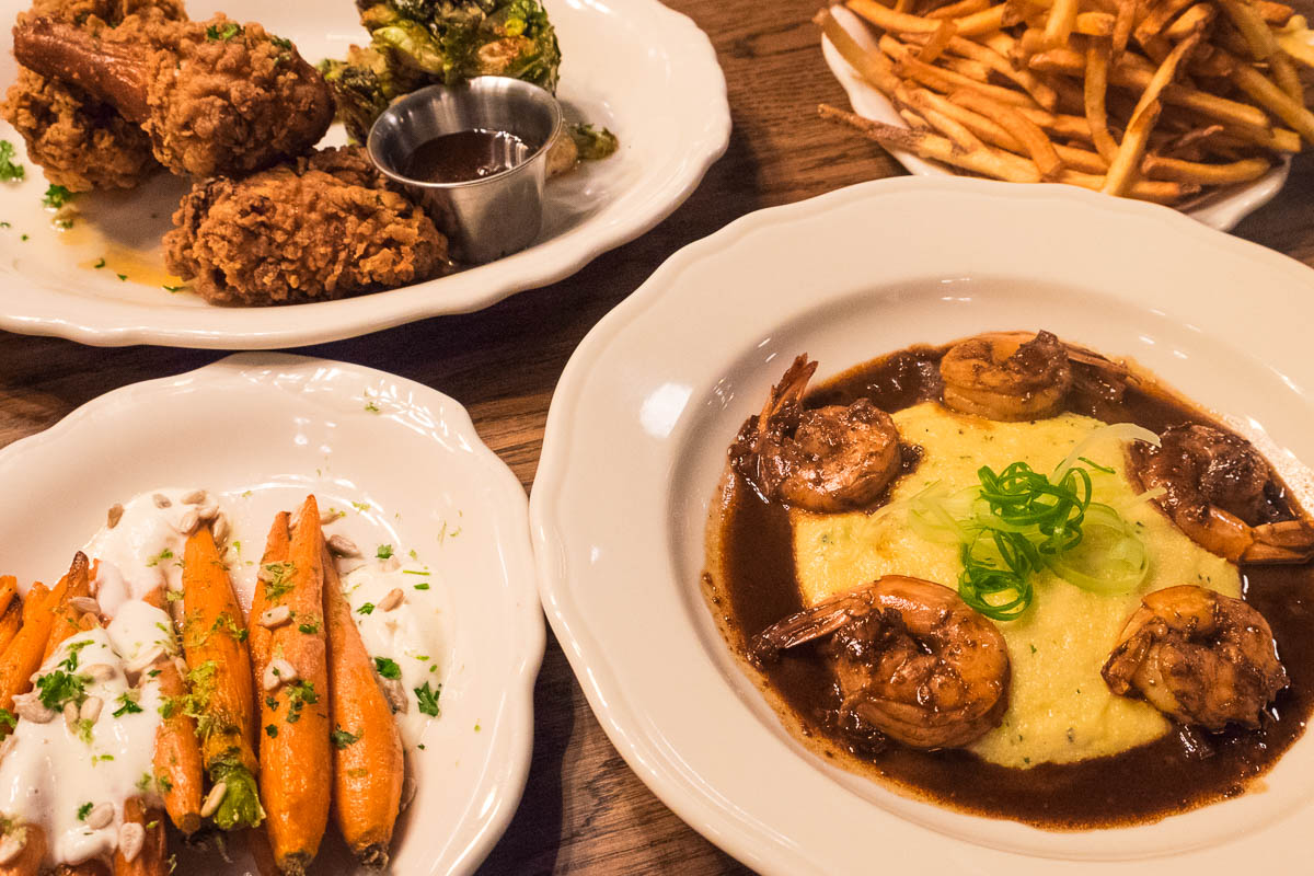 Dishes at Relish restaurant
