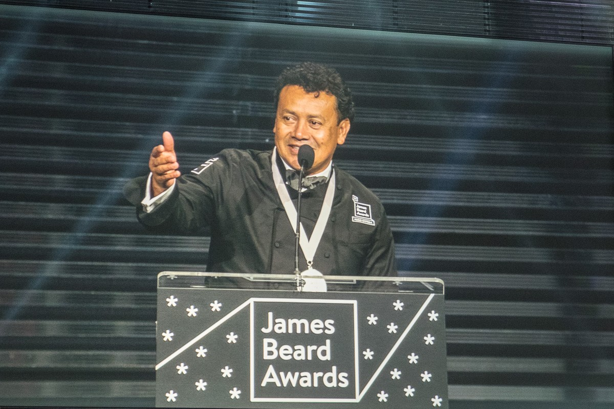 Chef Hugo Ortega at 2017 James Beard Awards