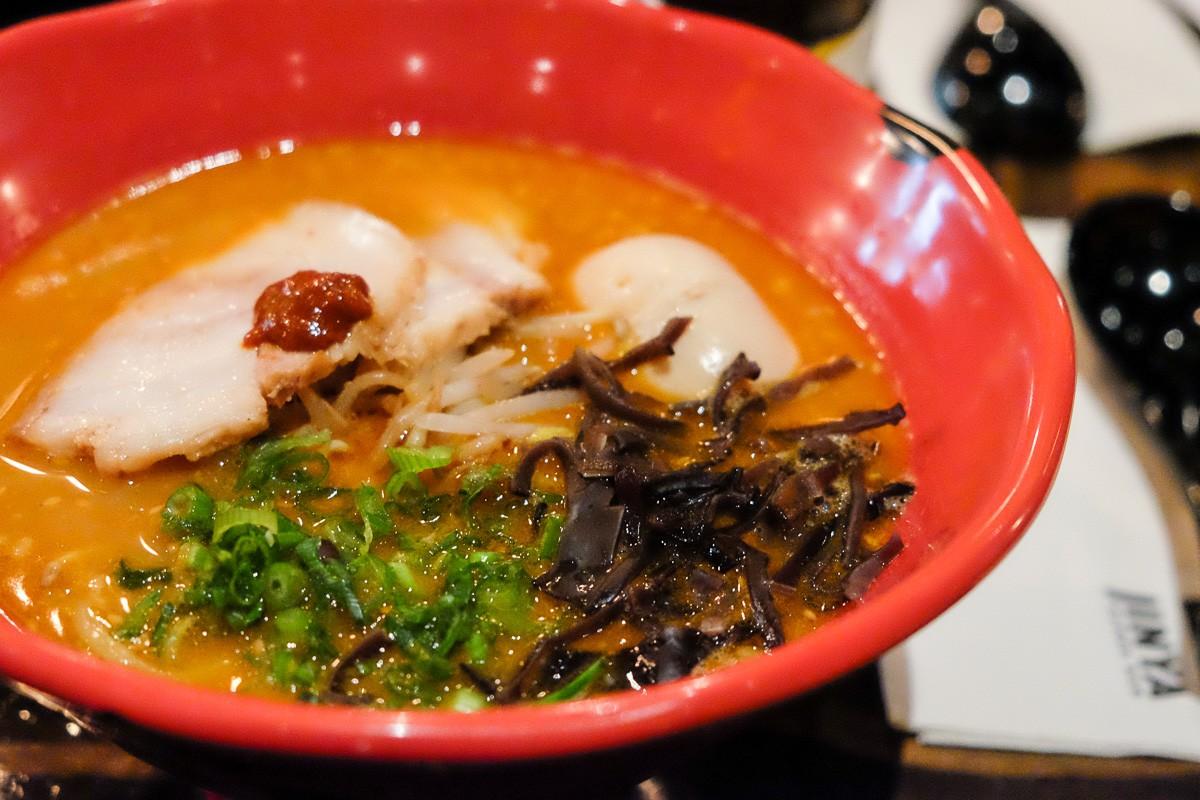 spicy tonkotsu at JINYA