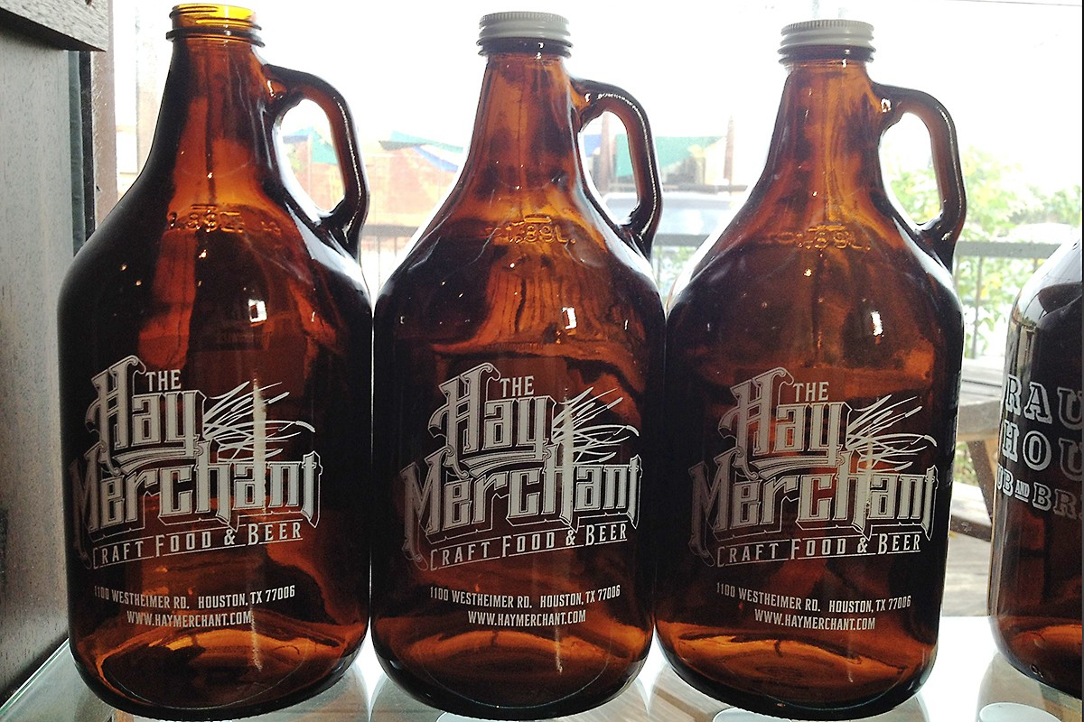 The Hay Merchant growlers