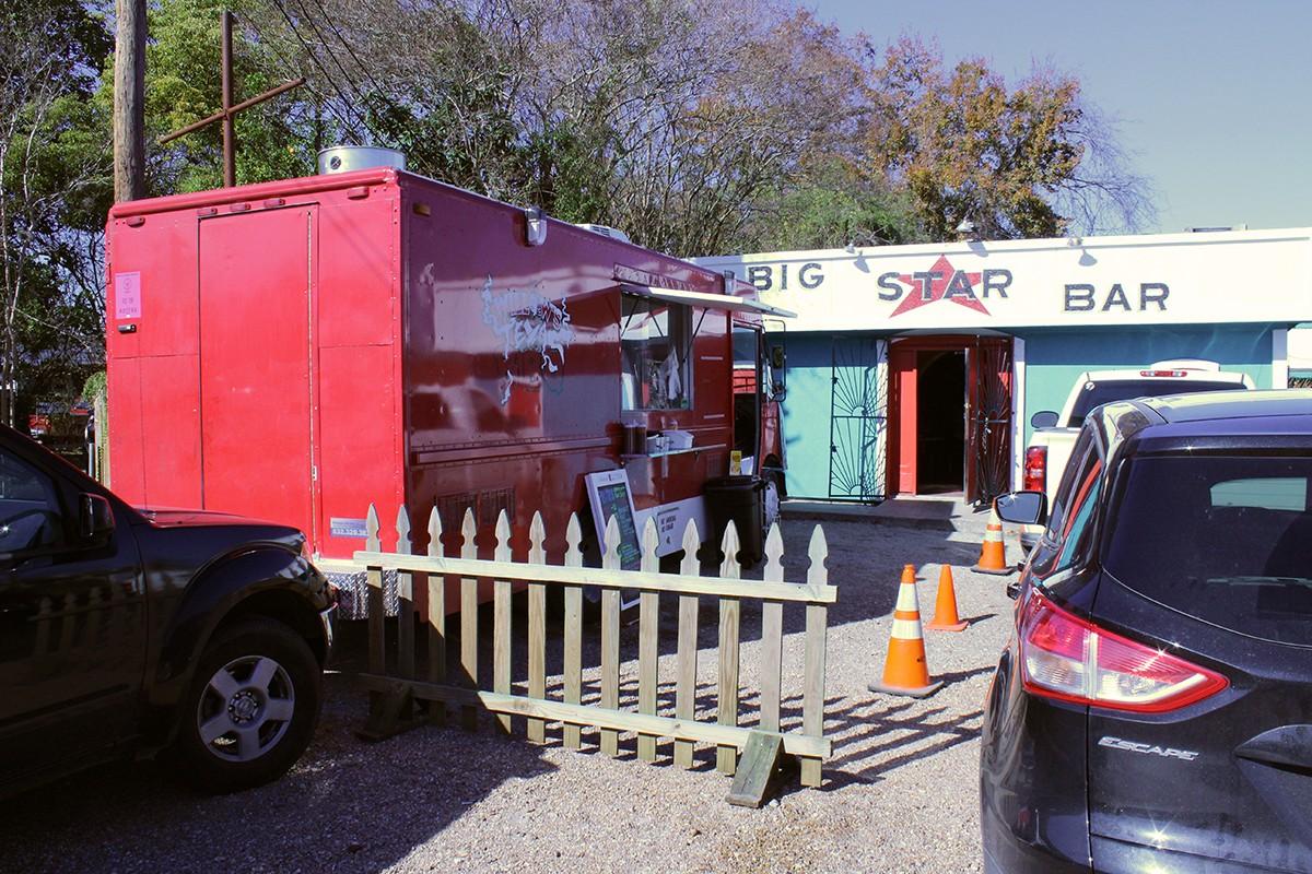 Willow's truck at Big Star Bar
