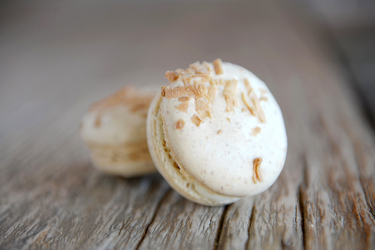 coconut macarons at Ooh La La