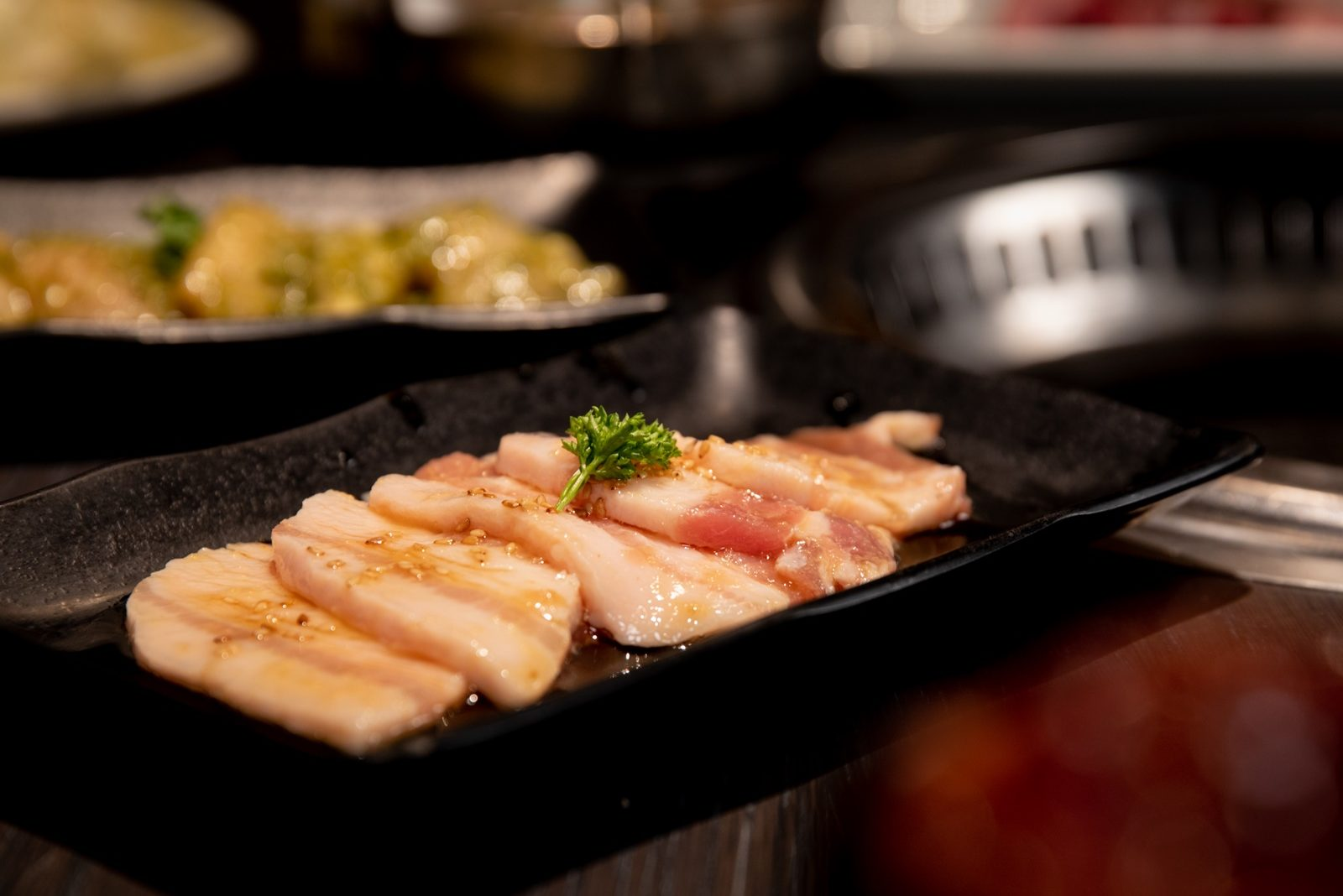 Pork belly ready to grill from Gyu-Kaku