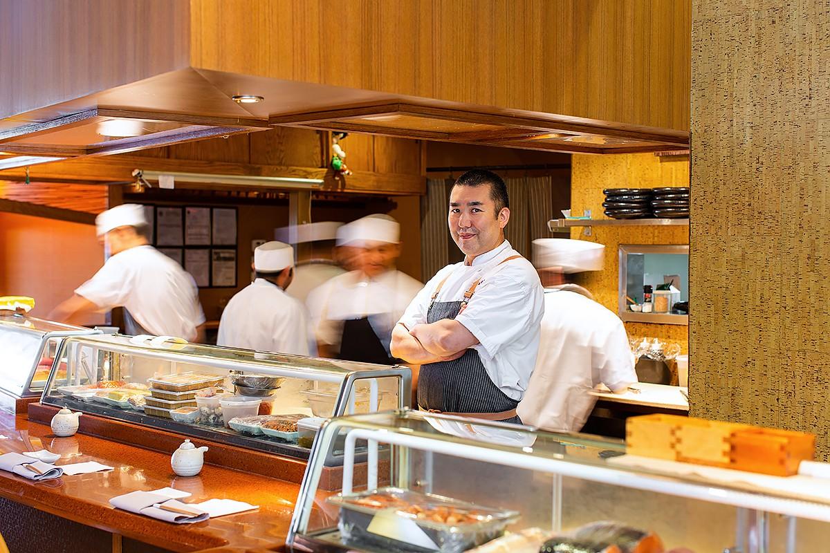 Chef Hori Horiuchi at Kata Robata