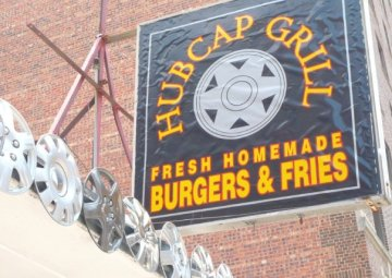 Hubcap Grill downtown sign