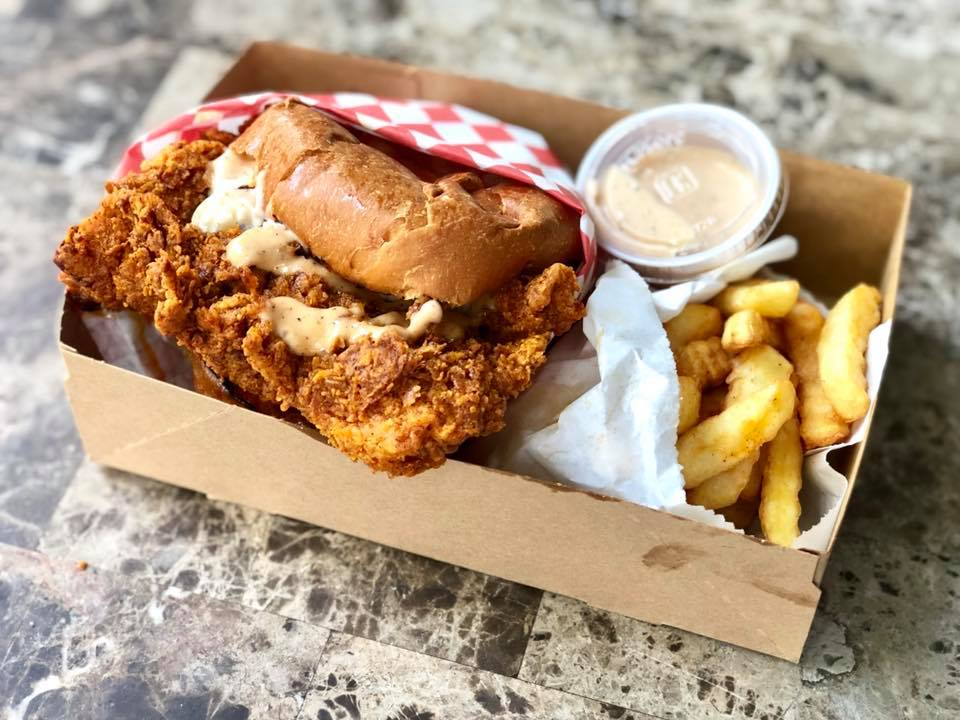 Nashville-style hot chicken sandwich from Bird Haus