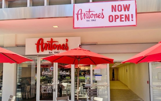 The storefront of the new Antone's Famous Po' Boys at the Medical Center in Houston