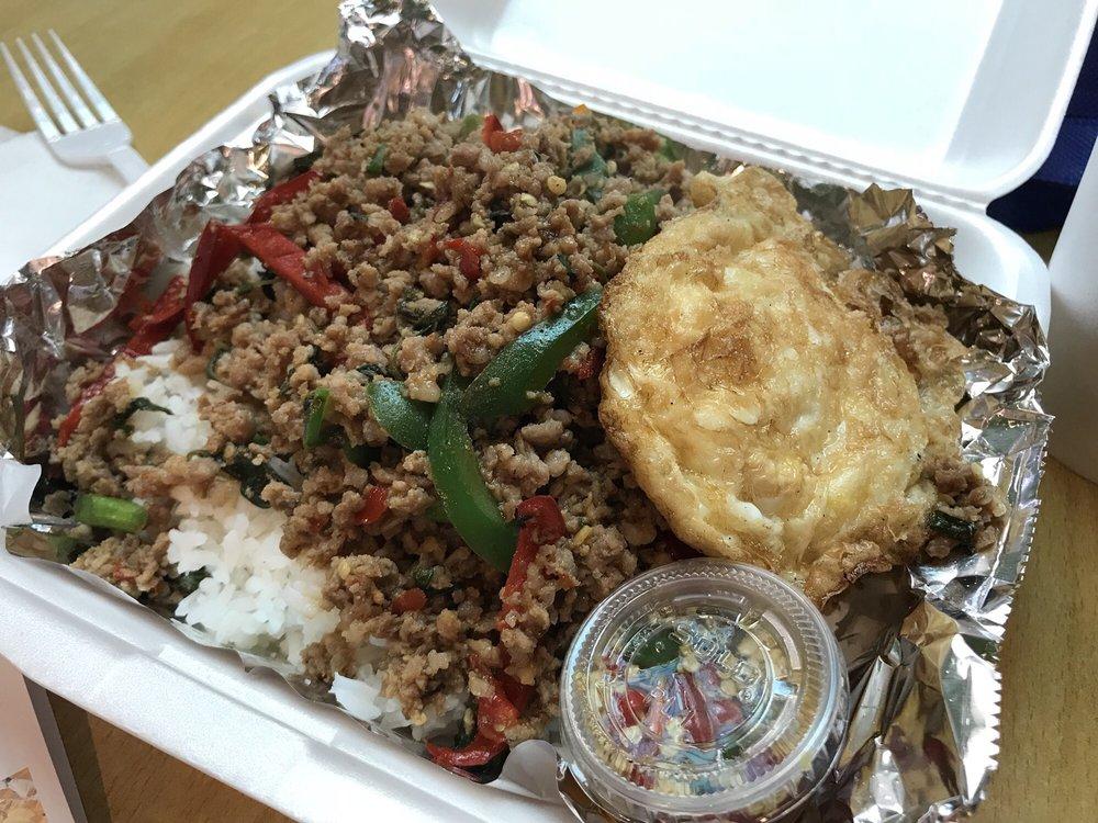 Pad Kra Pow at Anna Thai Food
