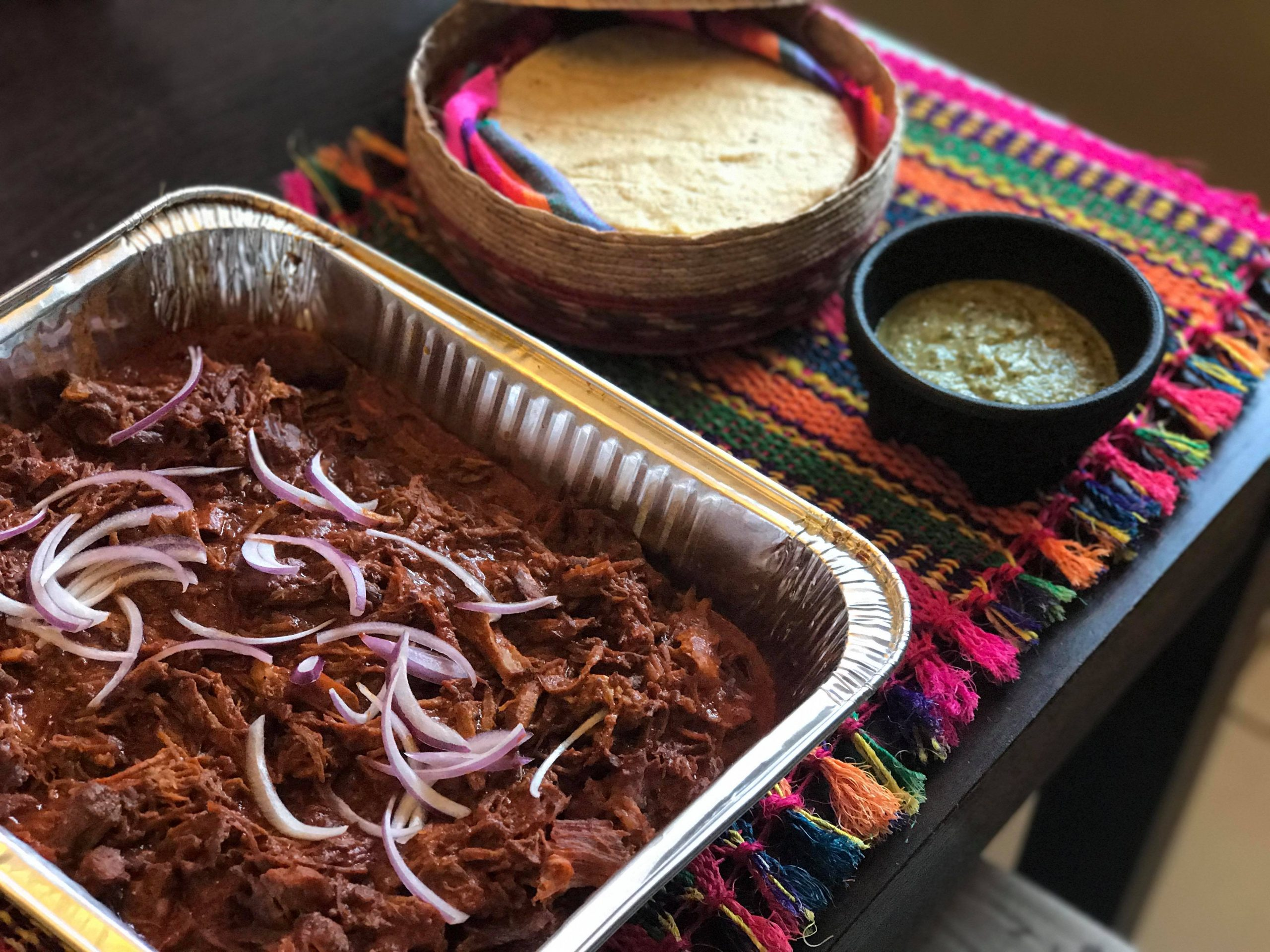 Cochinita pibil tray at Cochinita & Co
