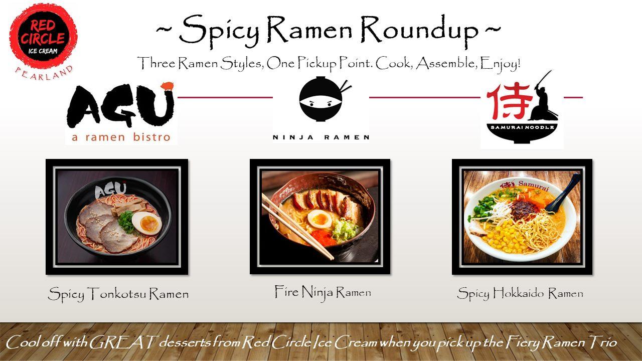 Samurai, Ninja and AGU spicy ramen pack