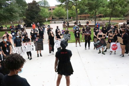 Photo Gallery: Peaceful Protest in SHSU Courtyard