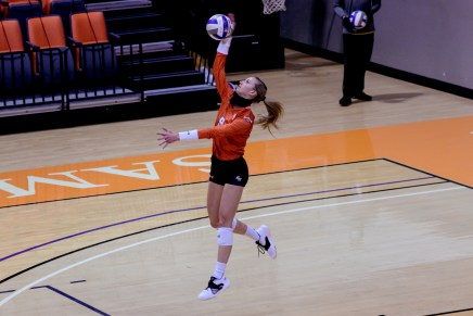 Bearkat Volleyball Drops Season Opener, Lewis Sets Career-High