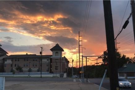 Stunning Texas sunsets during spring season