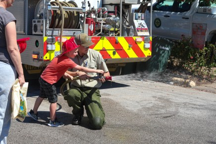 Touch-a-truck educates public on public service safety