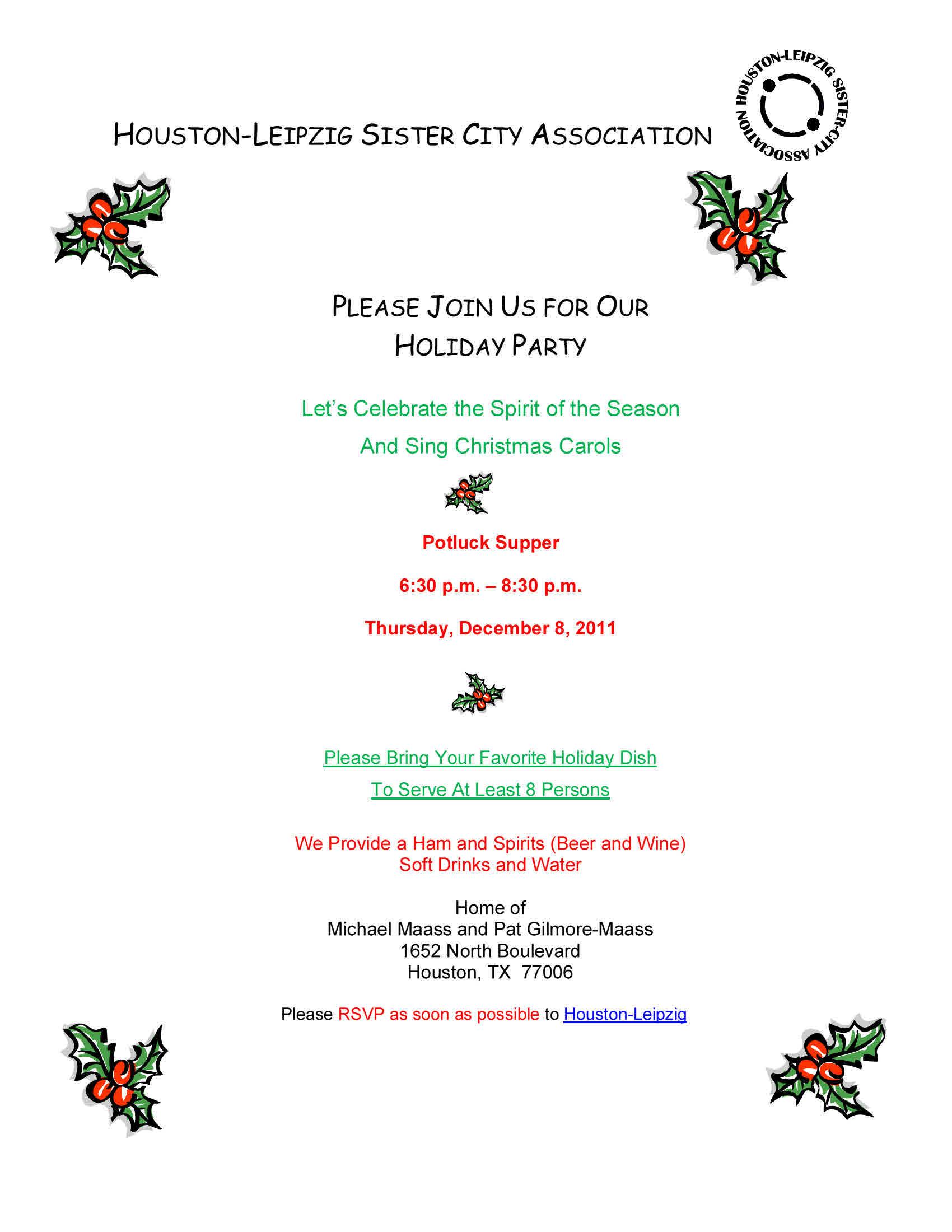 Copy of 2011 Holiday Party Invitation Website – Houston-Leipzig ...