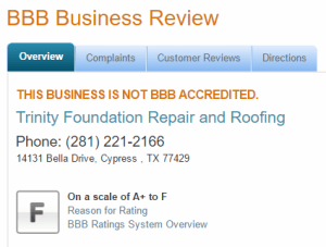 trinity foundation bbb rating