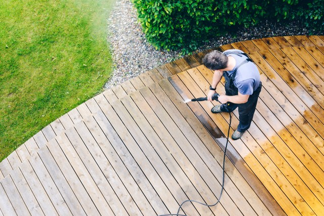 How to Clean Wood Decks With a Pressure Washer - Soft pressure