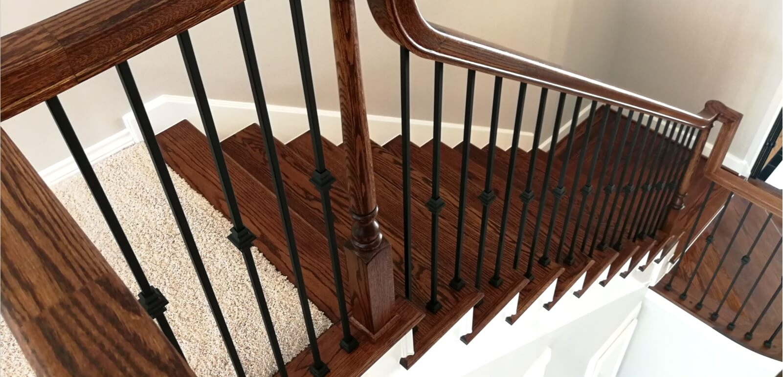Houston Stair Parts Stair Remodel Iron Balusters Railing   Installing Wrought Iron Railings On Stairs   Railing Kits   Concrete Steps   Iron Balusters   Outdoor Stair   Stair Spindles