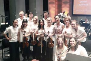 Tina Zhang and the second violin section.