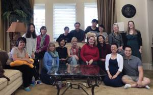 Tina Zhang with Houston Symphony musicians.