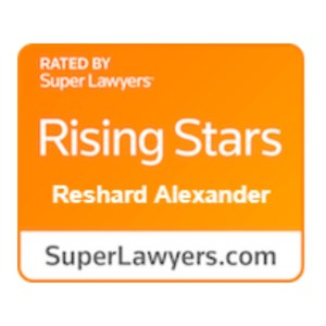 Rising Stars Super Lawyers Award Reshard Alexander