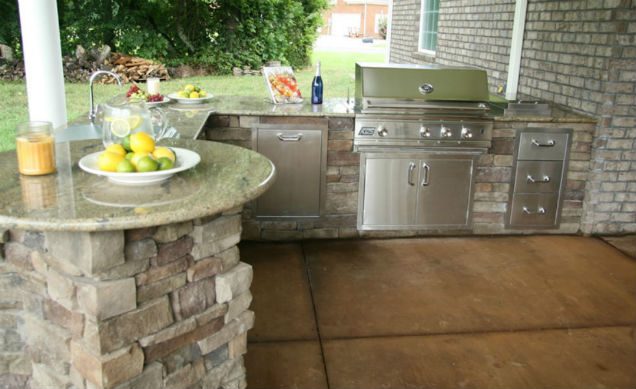 patio kitchen farmhouse hardware humble outdoor view larger image finished project