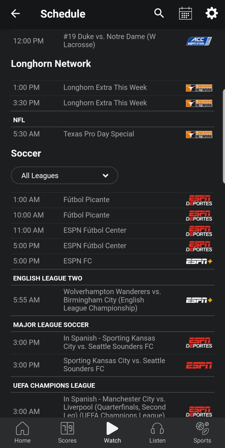 TV listing for watching Wolves v. Blues this Sunday