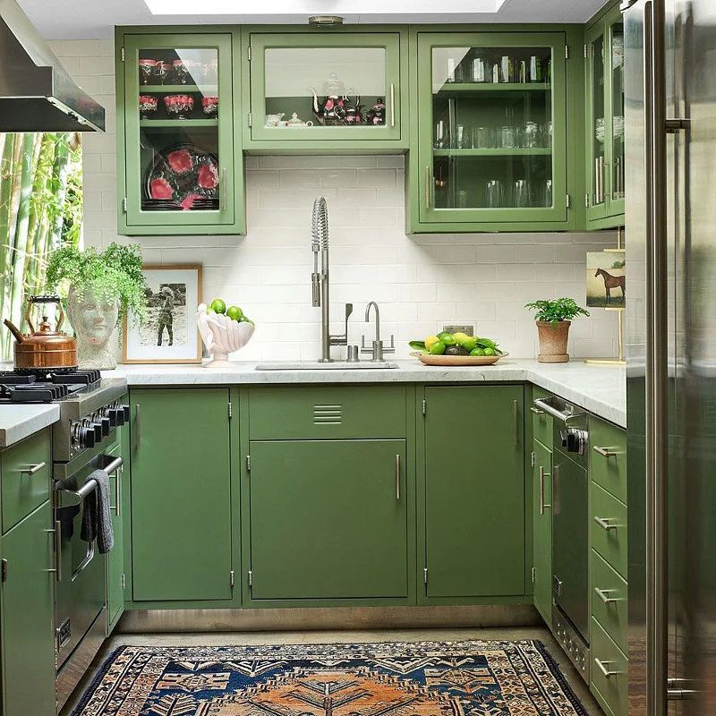 15 Green Kitchen Ideas That Will Make You Jealous In 2020 Houszed