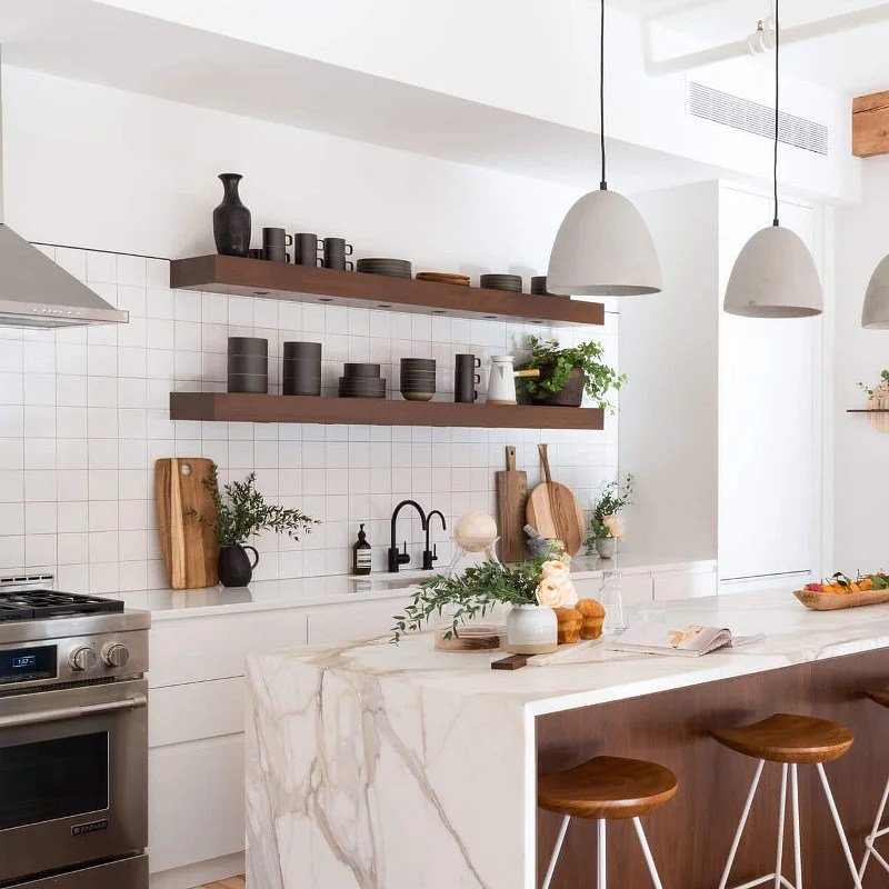 27 Open Kitchen Shelving Ideas That Work In 2020 Houszed