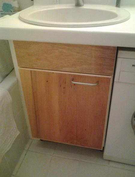 Keukenblad, badkamerdeurtje