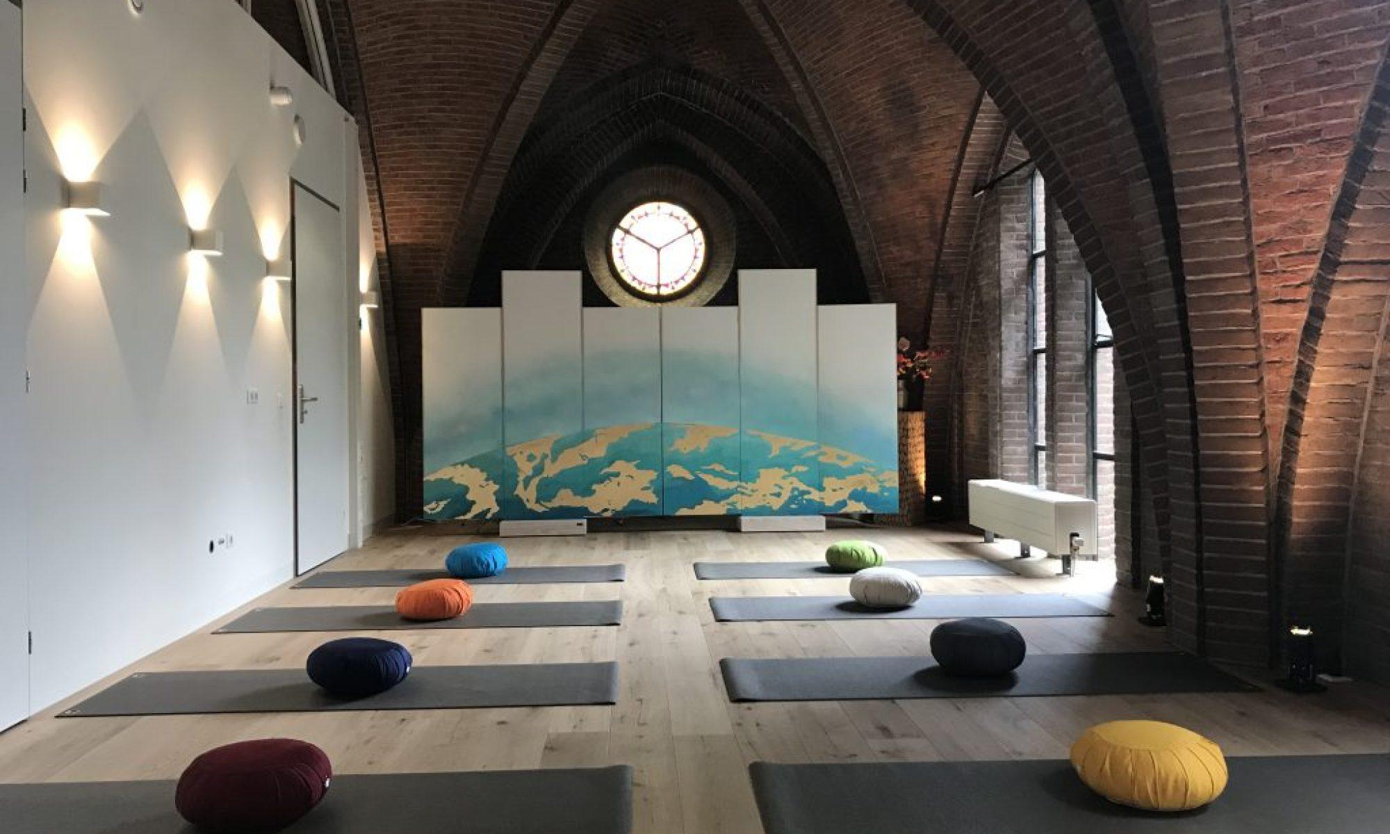 kamerscherm yogastudio