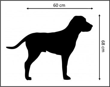 Hondenbench afmeting voorbeeld met rand