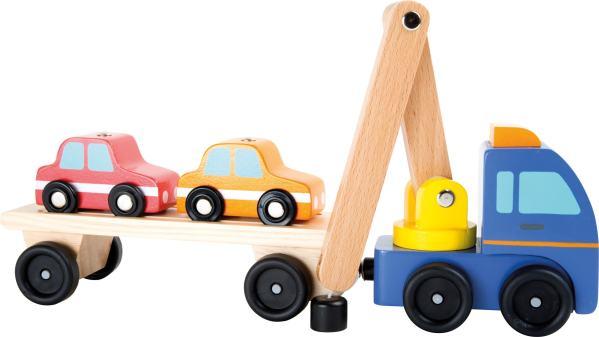 Houten speelgoed auto takelwagen
