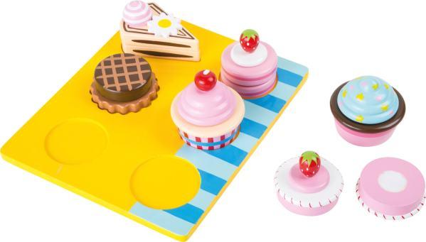 Houten speelgoed cupcakes
